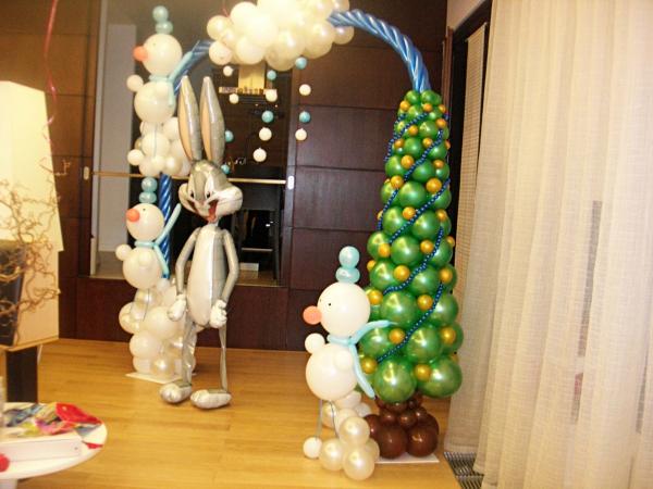 Новогоднее офомление, Украшение воздушными шарами детских праздников от Grandshar :: Лица компании LeProm.Ru - Портал легкой про