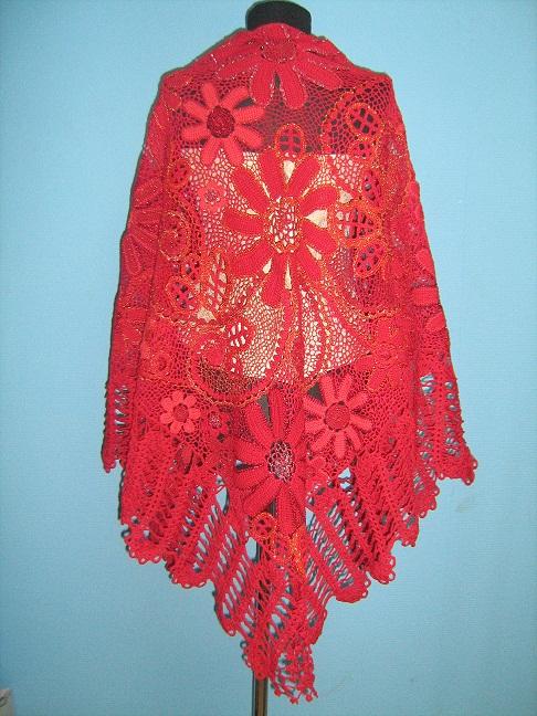 схемы вязания крючком шалей и косынок.