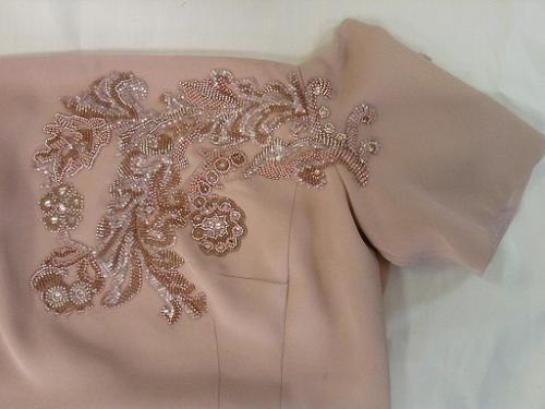 схемы вышивки на платье